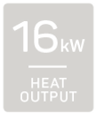 16kW heat output
