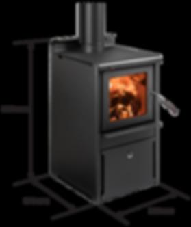 Serene wood fire dimensions