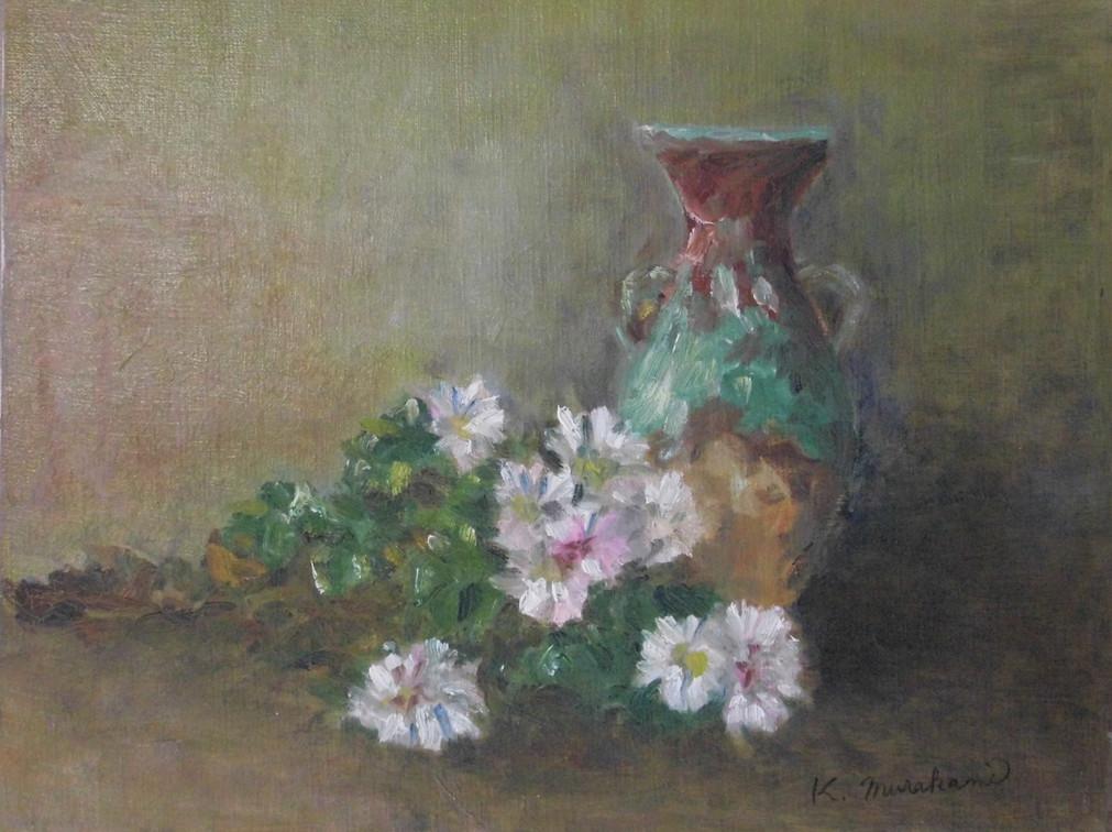白菊と花びん