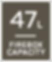 47L firebox capacity
