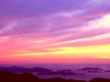 ラベンダー色の夕焼け
