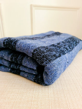 Blue on Blue Sweater Knit Fabric