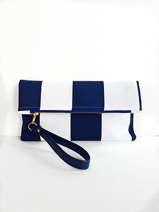 Nautical Stripe Clutch