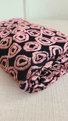 Velvet Geometric Stretch Knit Faric