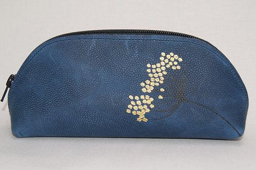 Lederen etui (golden flower)