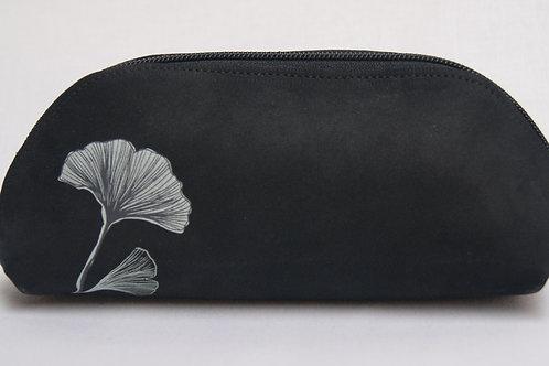 Lederen etui (black flower)
