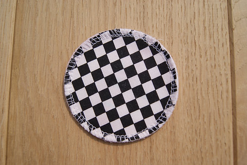 5 Make up pads - Black and white