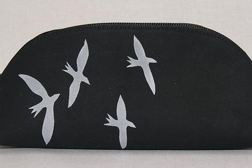 Lederen etui (black bird)