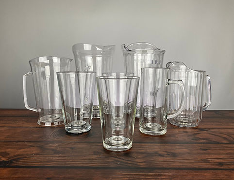 bottoms up drinkware vessels glass pints pitcher mugs