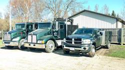 Service trucks are ready to go