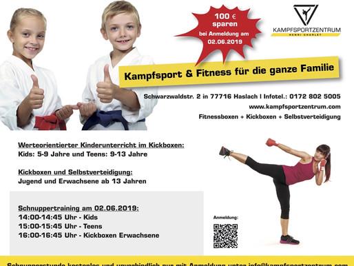 NEUERÖFFNUNG IN HASLACH im Kinzigtal am 2. Juni 2019 - Komm' vorbei und trainiere gleich mit!!!