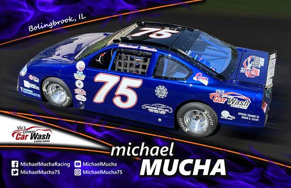 2019 Hero Card Michael Mucha Racing Bolingbrook 75 Super Cup Car