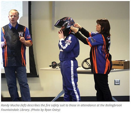 Michael Mucha, Randy Mucha, Carol Mucha, Bolingbrook, Library, Racing