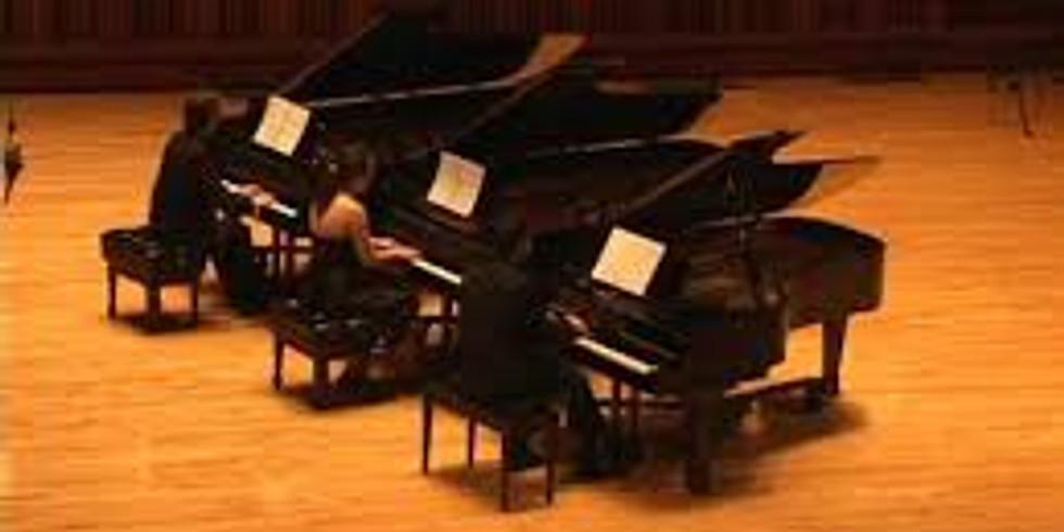 World Premiere:  Sónico, Triple Piano Concerto with Concert Band