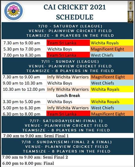 Cricket Team Schedule.JPG