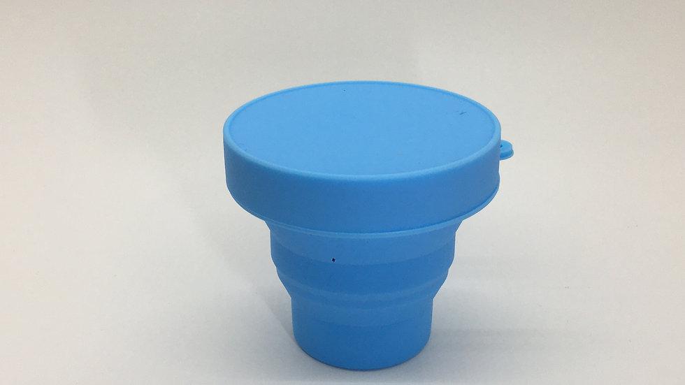 Mini Copo Eco Retrátil - Azul