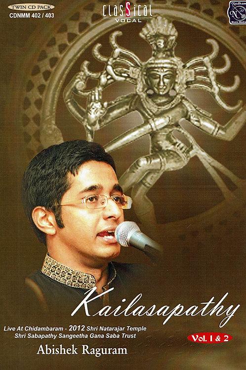 2021年秋来日予定!      【男性ボーカル・CD2枚組】「Kailasapathy」 / Abhishek Raghuram