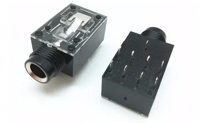 Jack ( conector ) Stereo para PCI - p10 - entrada cromada