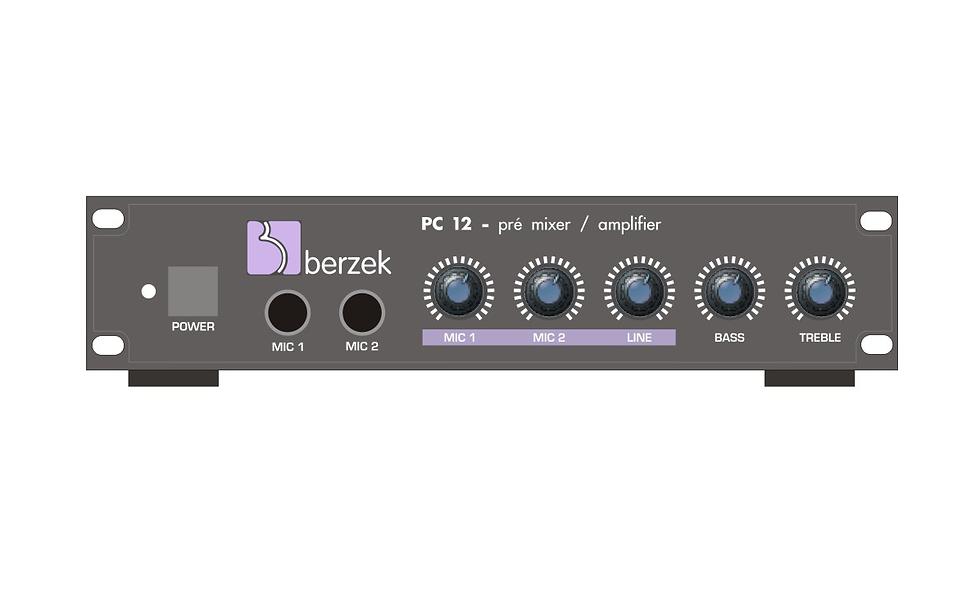 PC12 - Pré-Amplificador Mic+linha - 12vcc