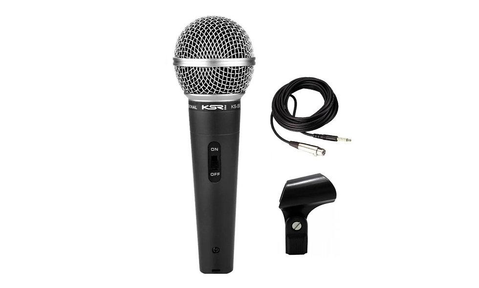 Microfone LE403 (BM58) para karaokê