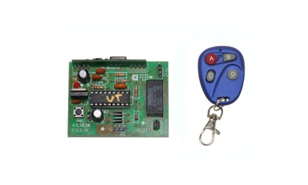 Placa contadora de pulsos, remoto 433 mhz