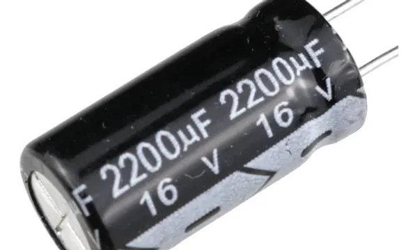 Capacitor 2200 x 16V ( embalagem com 100 peças )