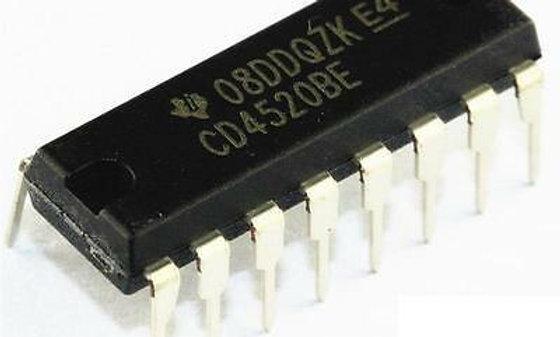 CD4520  - HEF4520 dual binary IC