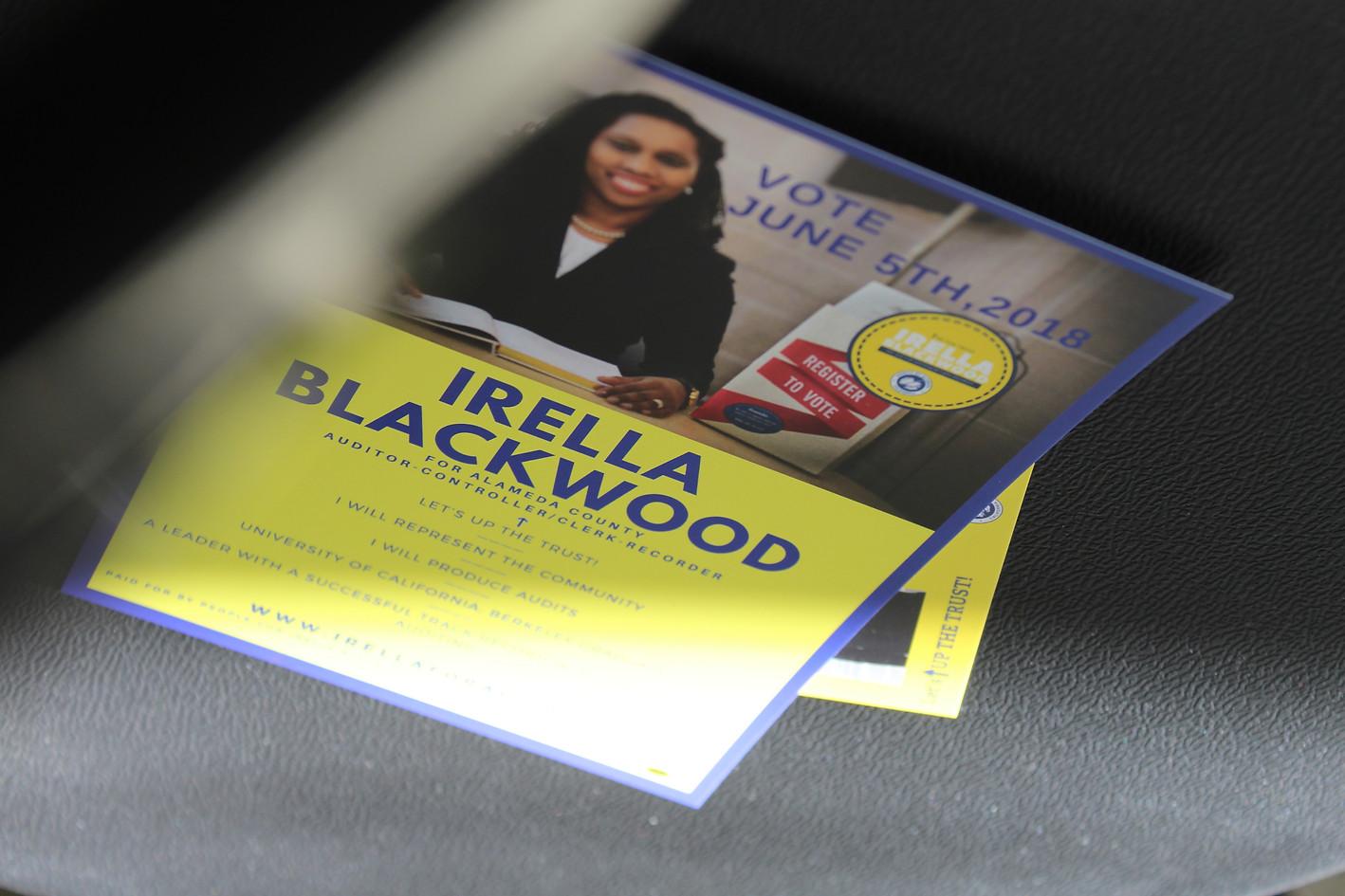 Campaign Flyer for Irella Blackwood