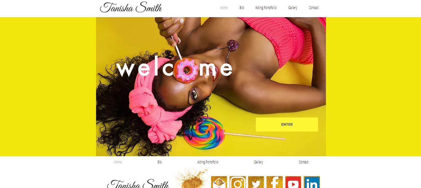 Tanisha Smith Model Portofolio