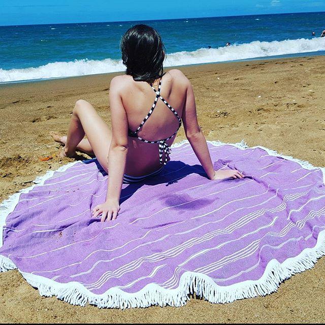 Beach days are here #sun#roundtowel #turkishtowels#beach#sand#summshine