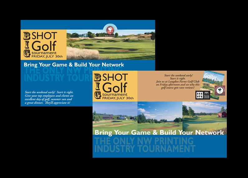 Golf tournament direct mail