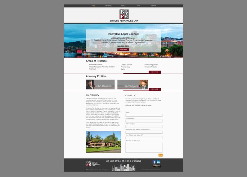 MC2 designed website