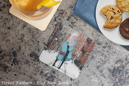 Set of coasters / Street Fashion: New York collection