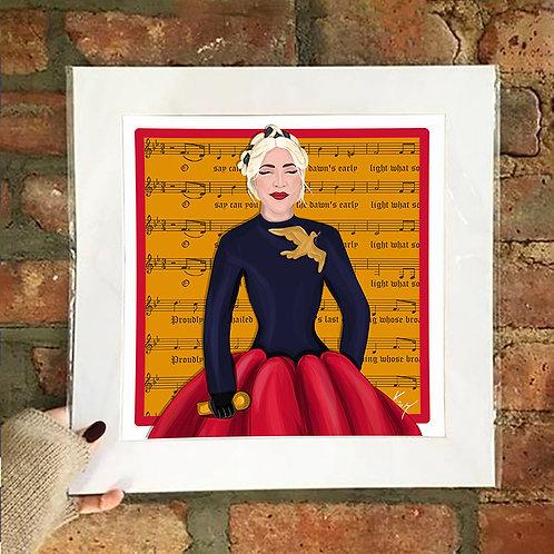 Poster / Women's Empowerment - Lady Gaga USA National Anthem
