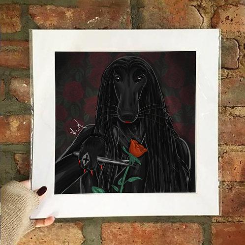 Poster / Petloween - Afghicia Addams