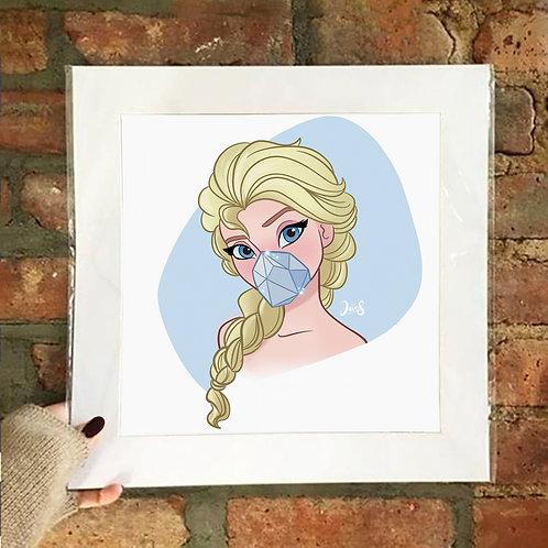 Poster / Queerantine - Mask Elsa