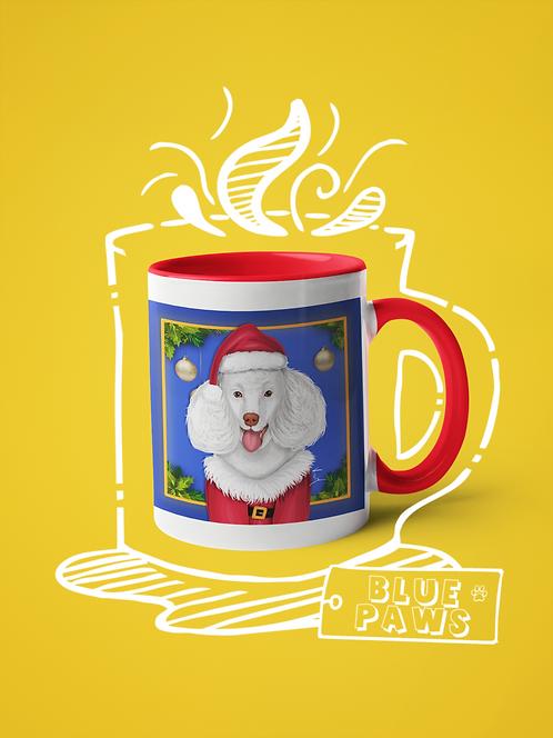 Mug / Pawlidays - Poodle Claus