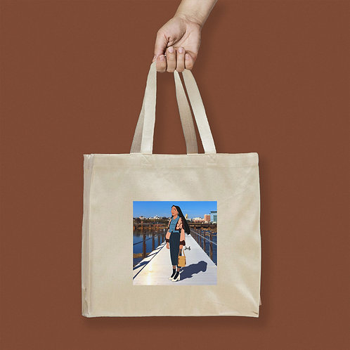 Tote Bag / Street Fashion - Pocahontas