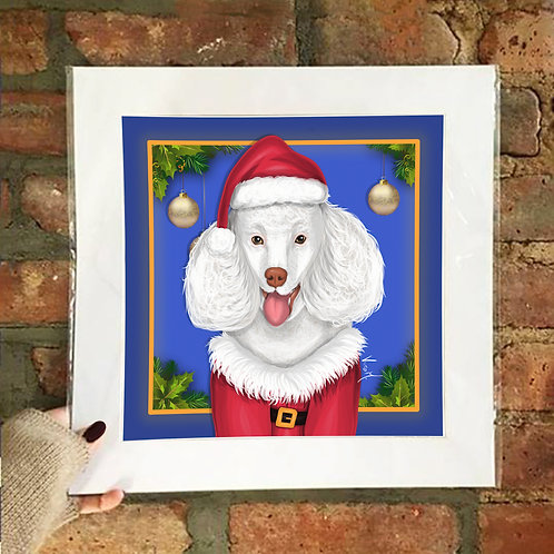 Poster / Pawlidays - Poodle Claus