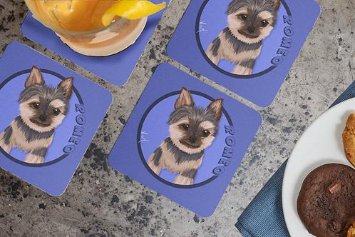 Set of coasters / Custom Pet Portrait