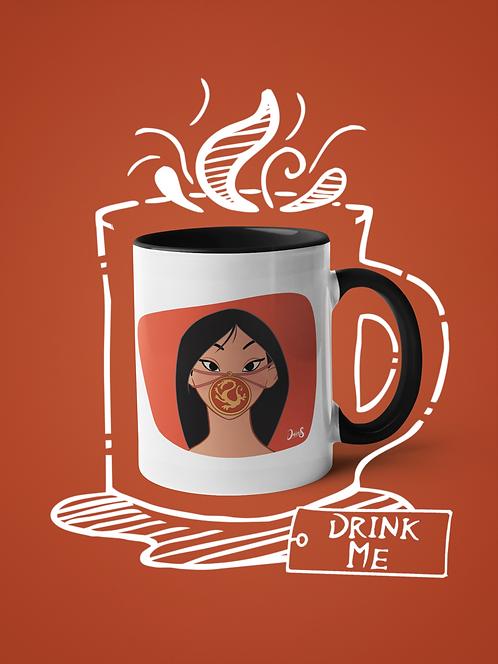 Mug / Queerantine - Mask Mulan