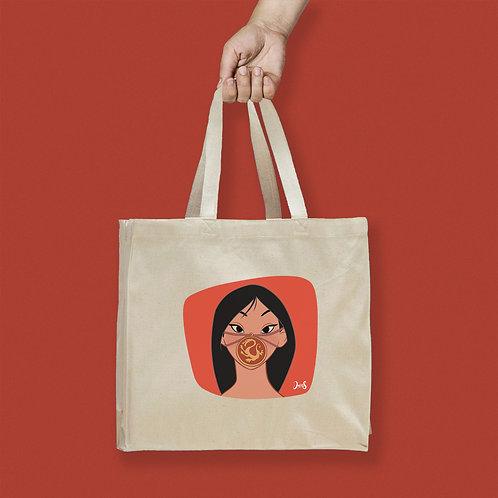 Tote Bag / Queerantine - Mask Mulan