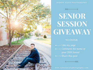 Senior Session Giveaway