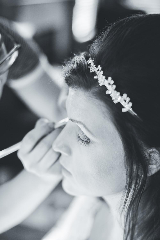 wedding prep makeup