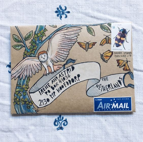 Mail art project.