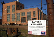 "Acme Power Plant, Sheridan Wyoming, ""Keep Out"" Sign"