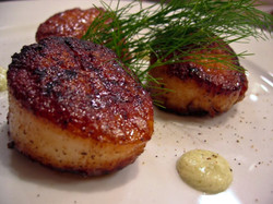 Scallops with Wasabi Cream