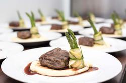 Steak, Potato & Asparagus