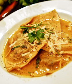 Mushroom Ravioli with Parmesan Broth