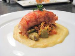 Lobster, Succotash & Polenta